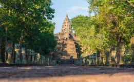 Sand stone castle, phanomrung in Buriram province, Thailand. Royalty Free Stock Photos
