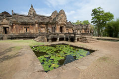 Sand stone castle Phanomrung Historical Park castle in Buriram province, Stock Photos