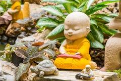Monk sculpture Stock Image