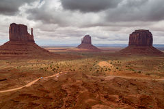 Sand Stone Monuments in Arizona Royalty Free Stock Images
