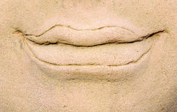 Sand stone mouth Royalty Free Stock Images