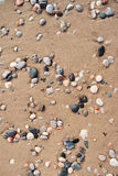 Sand and stone pebbles. Royalty Free Stock Photos