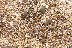 Sand and stone pebbles Royalty Free Stock Photos