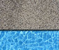 Sand stone with pool background Stock Photo