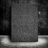 Sand Stone poster frame in Empty Grunge concrete wall and cement Royalty Free Stock Images