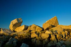 Sand stone quarry sunrise Stock Images