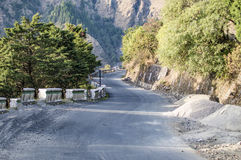 Sand stone road in valley Royalty Free Stock Photos