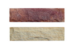 Sand stone samples isolated Royalty Free Stock Images