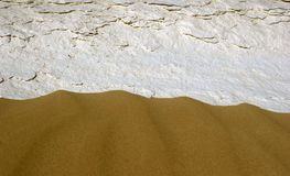 Sand and stone texture Stock Photography