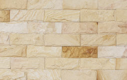 Sand stone wall Background of decorate Stock Photography
