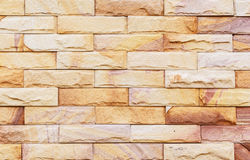 Sand stone wall Background of decorate Stock Photos