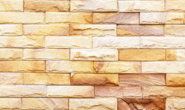 Sand stone wall Background of decorate Royalty Free Stock Photography