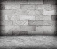 Sand stone wall and concrete  floor texture , Grunge design Royalty Free Stock Photo