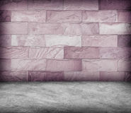 Sand stone wall and concrete  floor texture , Grunge design Stock Image