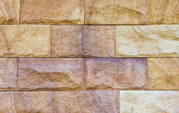 Sand stone wall Stock Images