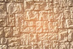 Sand stone wall rock stack. Background and texture Royalty Free Stock Photography