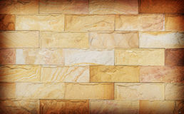 Sand stone wall texture and ackground of decorate Royalty Free Stock Photo