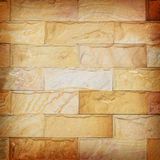 Sand stone wall texture and ackground of decorate Stock Photos