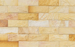 Sand stone wall texture and ackground of decorate Stock Photography