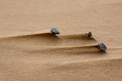 Sand and stones Stock Images