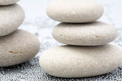 Sand stones as background. Piles of sand stones and small metallic balls as background Royalty Free Stock Photos