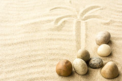 Sand and stones. Royalty Free Stock Images