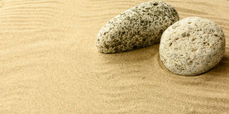 Sand and stones. Royalty Free Stock Image