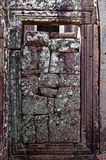 Sand stones in doorway in Angkor temple Royalty Free Stock Photo
