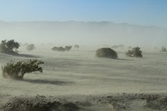 Sand storm #1. Desert Sand Storm in Death Valley National Park, California Royalty Free Stock Photography