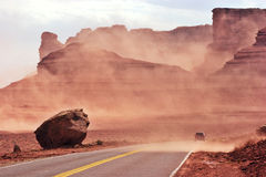 Sand storm Stock Images