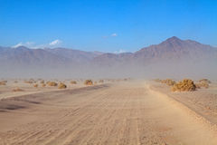 Sand storm #4. Desert Sand Storm in Death Valley National Park, California Stock Photo