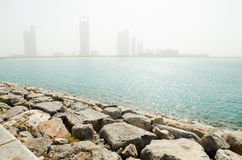 Sand storm in Abu Dhabi Stock Photos