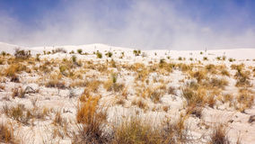 Sand Storm Blows at White Sands National Monument in New Mexico Stock Photos