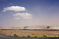Sand Storm in the Desert Stock Image