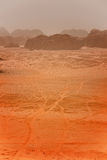 A sand storm  in the desert Stock Photos