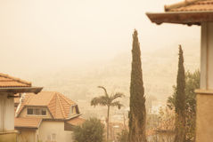 Sand storm in Israel Stock Photos