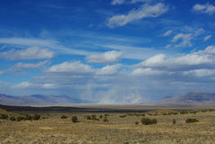 Sand storm near Austin, Nevada Royalty Free Stock Photos