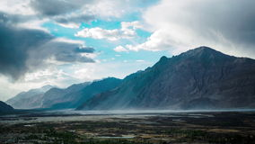 Sand Storm at Nubra Valley stock video footage
