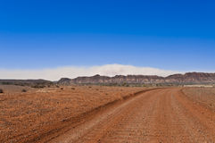 Sand storm in the outback Royalty Free Stock Images