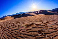 The sand in Stovepipe Wells Village Stock Images
