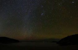 Sand-Strand über Nacht am Acadia-Nationalpark Lizenzfreies Stockfoto