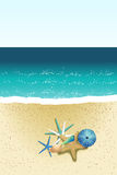 Sand-Strand Stockbild