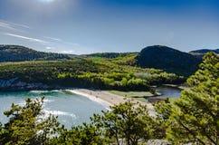Sand-Strand - Acadia-Nationalpark - Maine Lizenzfreie Stockfotografie