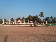 Sand am Strand im goa Stockfoto