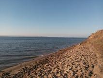 Sand stranden, stranden, badning, vilar, serenitet arkivfoto