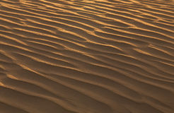 Sand structure in the desert Royalty Free Stock Photo