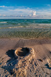 Sand structures on beach Stock Photography