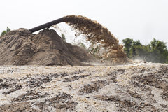 Sand suction dredging Stock Photography