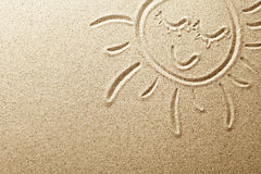 Sand Sun Arkivfoto