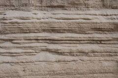 The sand that is superimposed Royalty Free Stock Image